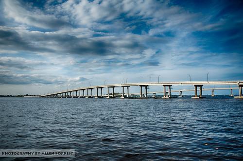 florida fortmyers bridge river unitedstates