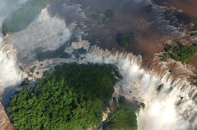 Impresionante perspectiva de las cataratas de Iguazú