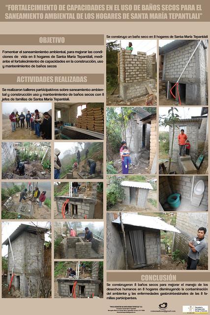 Baños secos (saneamiento ambiental) Santa María Tepantlali, Oaxaca.
