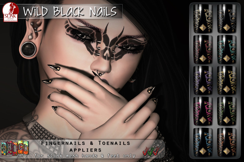 [ S H O C K ] Wild Black Slink nails @ Black Fashion Fair