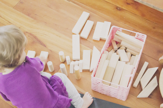 J and her blocks