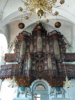 gigantic church organ