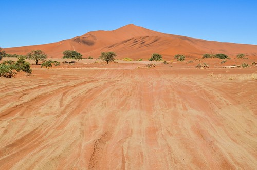 Sand road and Big Daddy dune, Sossusvlei, Namibia
