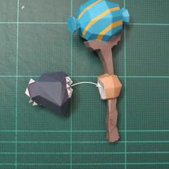 วิธีทำโมเดลกระดาษของเล่นคุกกี้รัน คุกกี้รสพ่อมด (Cookie Run Wizard Cookie Papercraft Model) 030