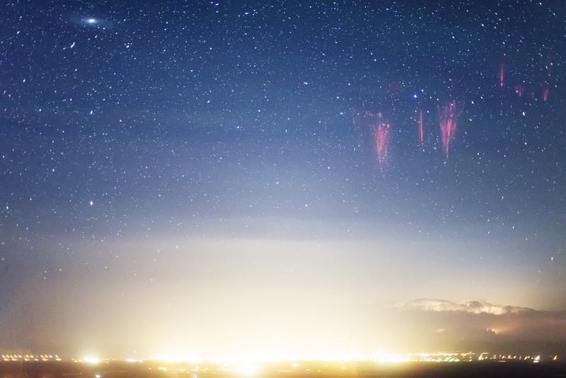 Sprites, airglow, Andromeda Galaxy
