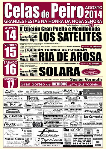 Culleredo 2014 - Festas patronais de Celas de Peiro - cartel