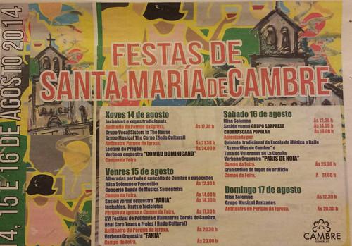 Cambre 2014 - Festas patronais - cartel