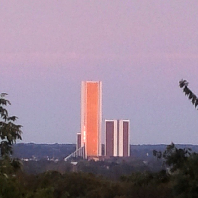 #citiplextowers former #oralrobertsuniversity medical school and hospital from #turkeymountain #sunset #reflections #tulsa #oklahoma #igersok