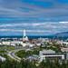 Overlooking Hallgrímskirkja from Perlan, Reykjavík