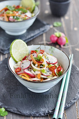 Noodle Salade with Radish , seasame etc...