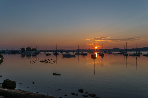 July Sunrise at the Marina by Geoff Livingston