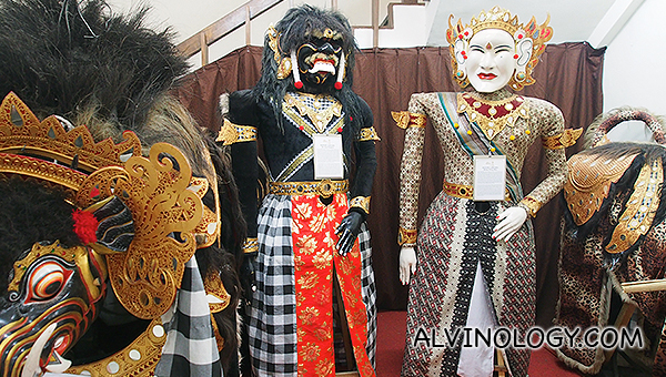 Large Balinese puppets