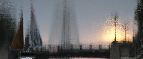 morning reflection sunrise river sail oldtown klaipeda lithuania lietuva saulėtekis d80 saulė danė