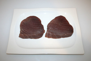 01 - Zutat Thunfischsteaks / Ingredient tuna steaks