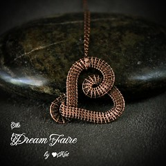 Heart Simple - Copper Wire Woven Pendant and Chain Necklace