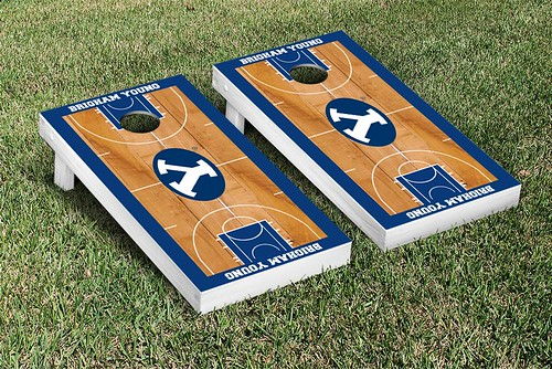 Brigham Young University BYU Cougars Cornhole Game Set Basketball