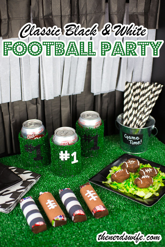 Classic Black and White Football Party
