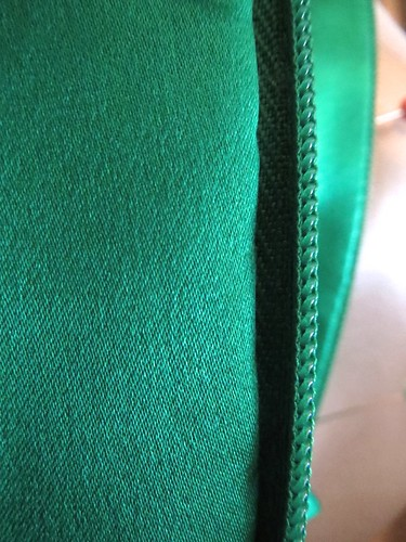 Invisible Hand Stitch Lining to Zipper