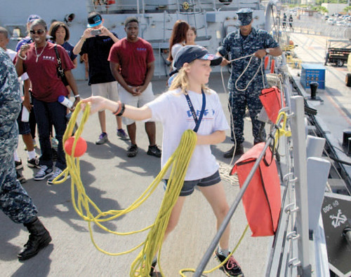 Twenty-six Oahu children participating in Operation DEFY (Drug Education for Youth) visited the Pearl Harbor-based, guided-missile destroyer USS Paul Hamilton (DDG 60) on for a guided tour that included five interactive stations.