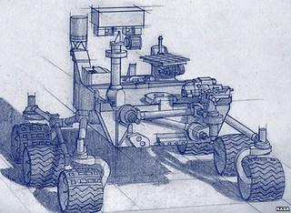 Esquema del vehículo Mars2020.