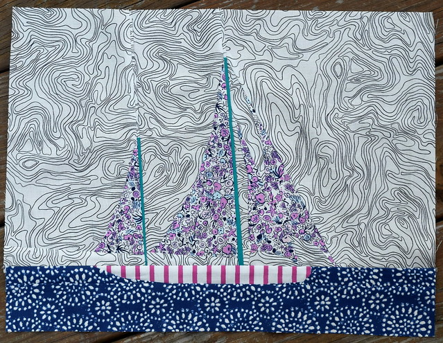Paper pieced boat