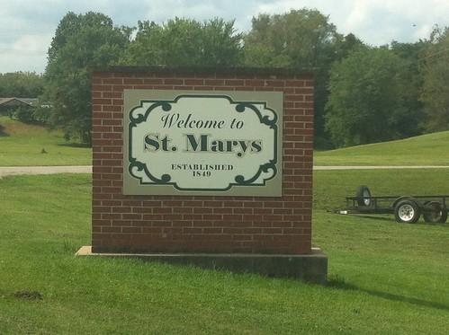 Southbound WV 2 St. Marys, WV
