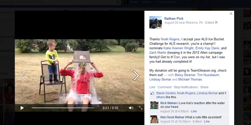 ALS Challenge - FB screenshot