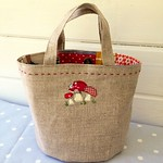 Toadstool Patchwork Bag