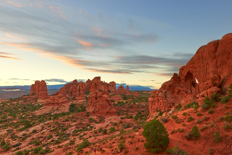 Sunrise South Window Arch - Arches National Park