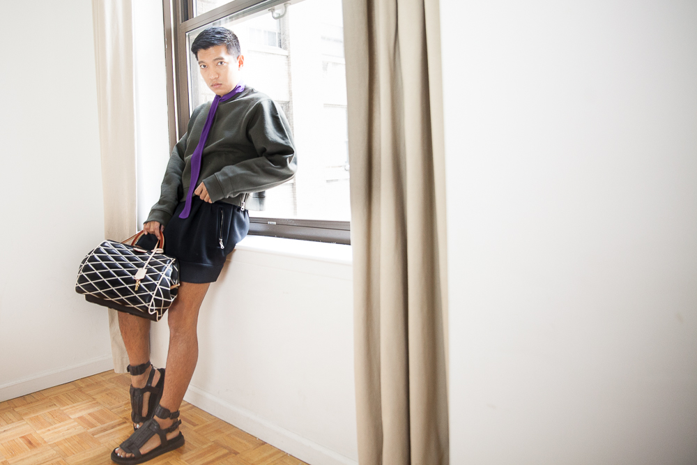 Louis Vuitton Malletage Doc PM bag worn by Bryanboy