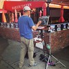 Let's paint on canvas the fruit stand in Harlem! This man did!