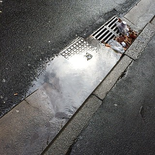 Surry Hills lanes in the rain 5: this is draining