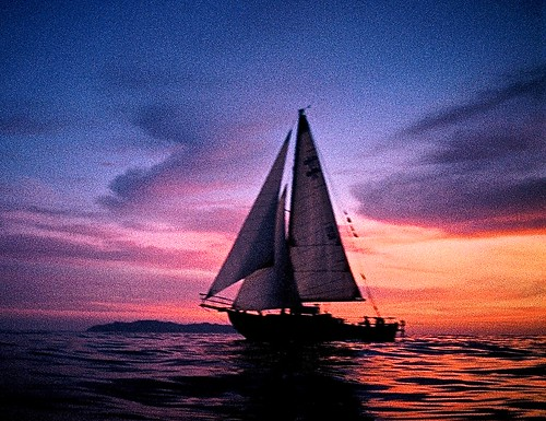 sunset sky seascape sunrise boats sailing cutter mexic seaofcortez