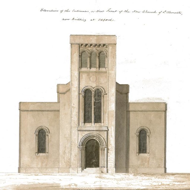 Architects drawing of the main entrance as envisioned in 1825