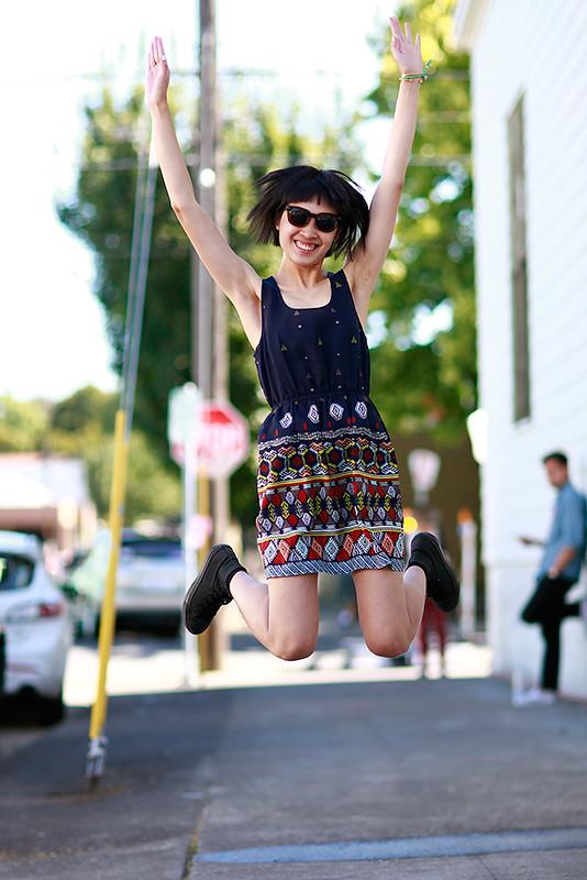 helen_jumping XOXO, artist, Quick Shots, Portland, women, street style, street fashion