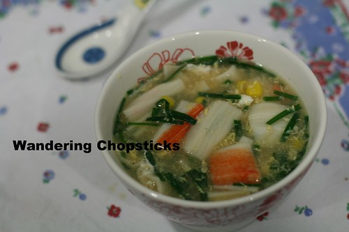Chinese Corn Imitation Crab Egg Drop Soup 5