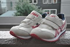 outdoor shoe(1.0), sneakers(1.0), footwear(1.0), white(1.0), shoe(1.0), red(1.0), grey(1.0), athletic shoe(1.0), pink(1.0),