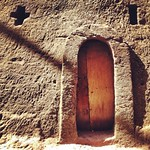 Morning shadows and niches. Bethlehem, House of the Holy Bread, connected to Bete Maryam, in the 13th century New Jerusalem complex -- Lalibela, Ethiopia. #doorwayporn