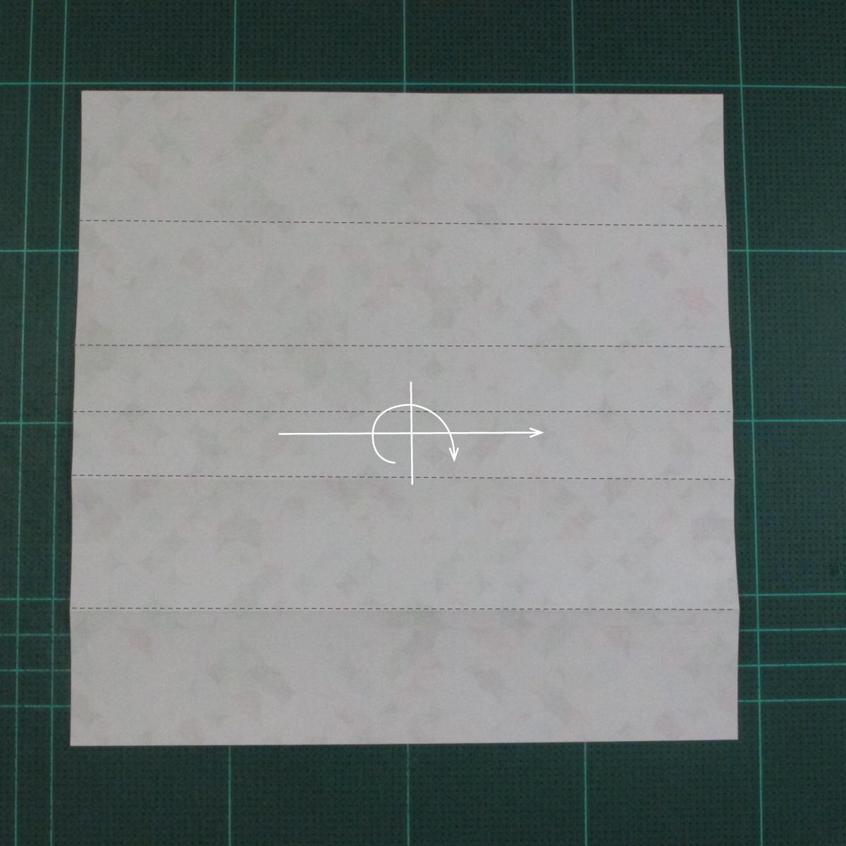 วิธีพับกล่องของขวัญแบบมีฝาปิด (Origami Present Box With Lid) 008