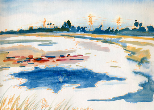 August 2014: Sketching Salt Marshes
