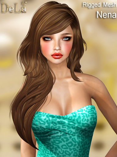 "=DeLa*= New rigged mesh hair ""Nena"""