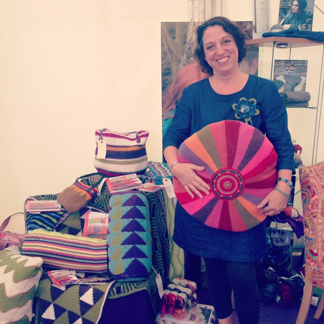 Had a lovely time chatting with @janiecrow at #thehandmadefair #hamptoncourtpalace.