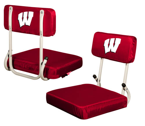 Wisconsin Badgers Hard Back Stadium Seat