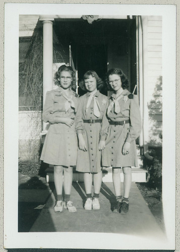 Three Girl Scouts
