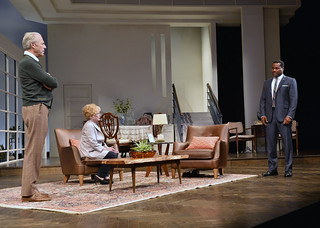 Will Lyman, Julia Duffy, and Malcolm-Jamal Warner in the Huntington Theatre Company production of Todd Kreidler's compelling family comedy GUESS WHO'S COMING TO DINNER directed by David Esbjornson, playing Sept. 5 – Oct. 5, 2014 at the Avenue of the Arts / BU Theatre. Photo: Paul Marotta