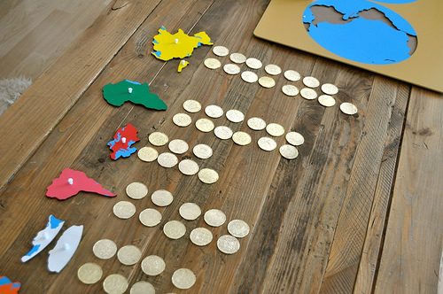 How Many Pirate Coins Did the Pirate Find on This Continent? (Photo from Sorting Sprinkles)