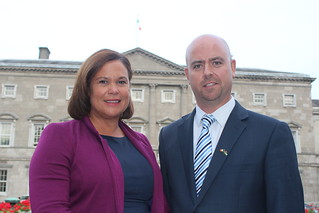 Mary Lou McDonald and Cathal King