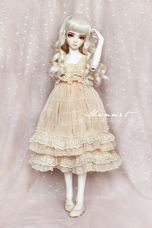 FS: Romantic Peach dress for 1/4 MSD BJD