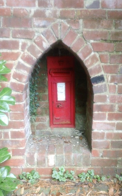 Old Rectory post box in wall