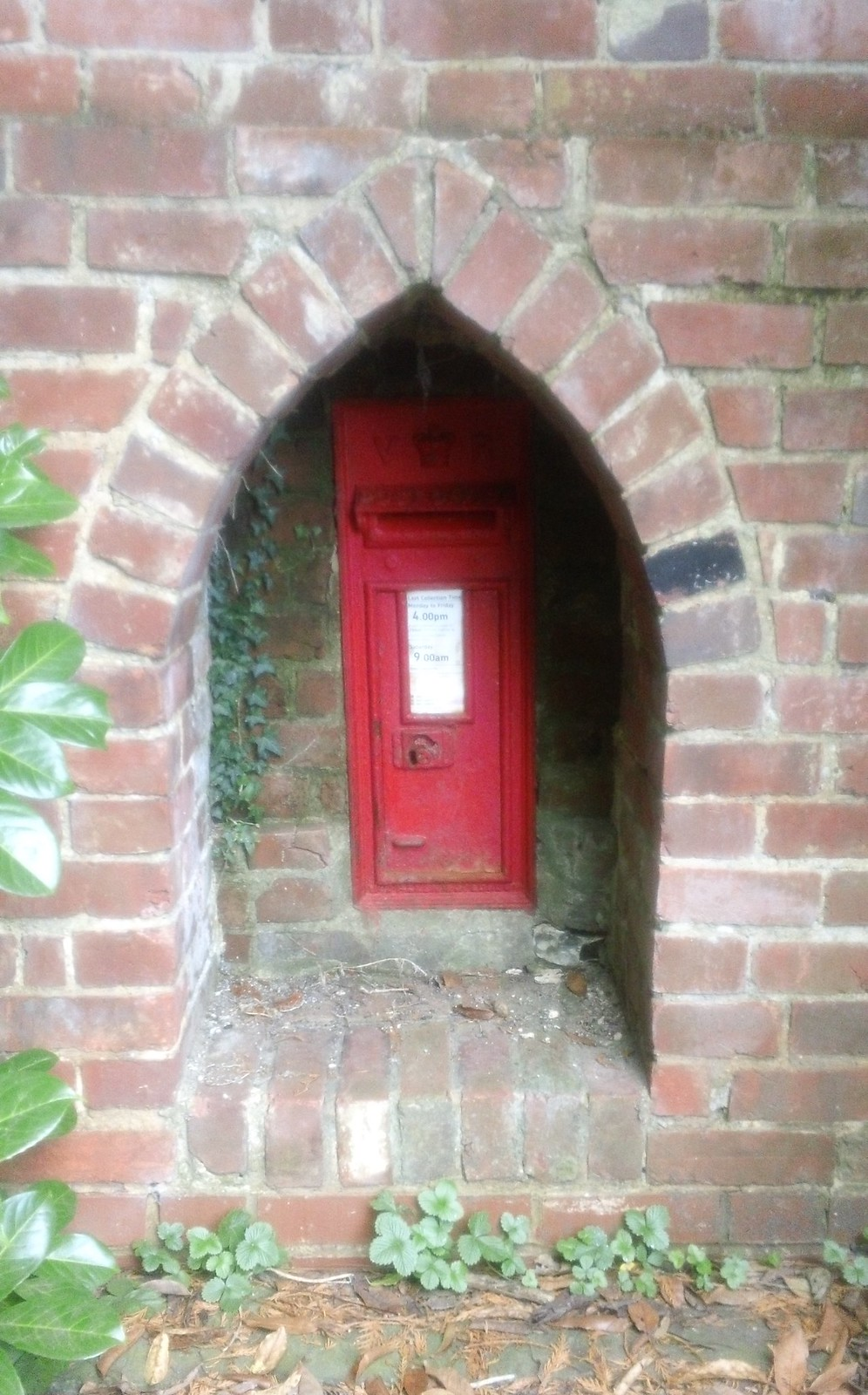 Old Rectory post box in wall Near Stalisfield Green, Kent